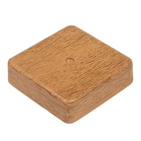 Коробка распределительная T-plast, 80x80x20 мм, светлый орех, 50.12.001.0004, Ош