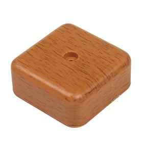 Коробка распределительная T-plast, 50х50х20 мм, темный орех, 50.12.002.0003, Ош