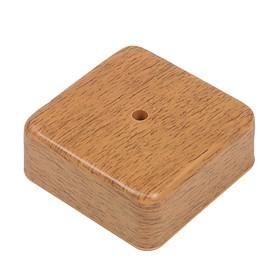 Коробка распределительная T-plast, 75х75х20 мм, темный орех, 50.12.003.0003, Ош