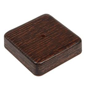 Коробка распределительная T-plast, 75х75х20 мм, венге, 50.12.003.0005, Ош