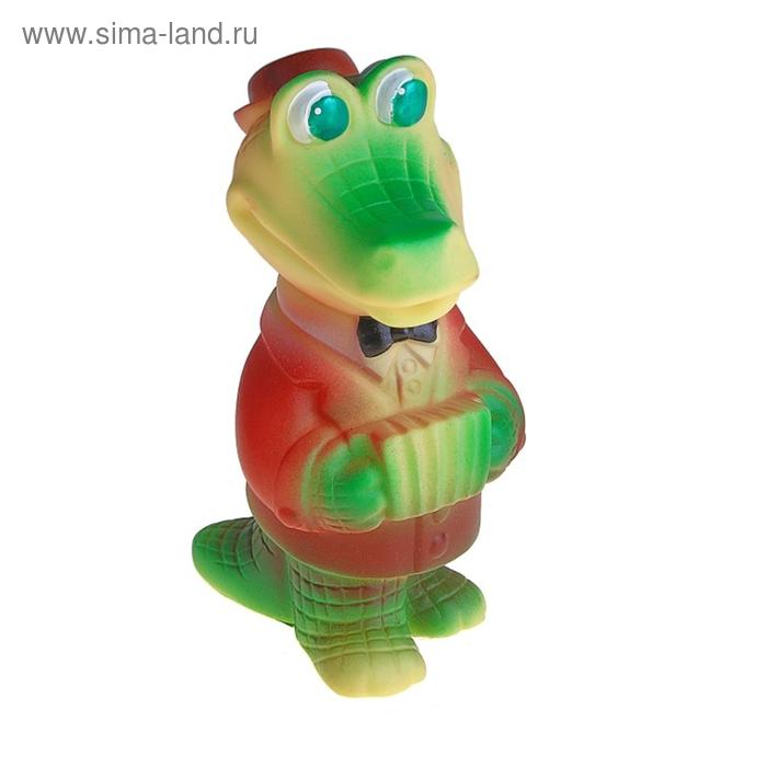 """Резиновая игрушка """"Крокодил - гармонист"""""""
