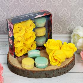 Подарочный набор 'Самой лучшей учительнице!': мыльные лепестки, 6 шт. и мыло в форме пирожного, 3 шт. Ош