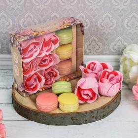 Подарочный набор 'Дорогому учителю!': мыльные лепестки, 6 шт. и мыло в форме пирожного, 3 шт. Ош