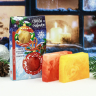 """Подарочный набор """"С новым счастьем"""": два мыла ручной работы"""