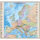 Карта Зарубеж Европа. Политич с флагами 140*156см 1:3,2М лам в пласт тубусе ОСН1234498