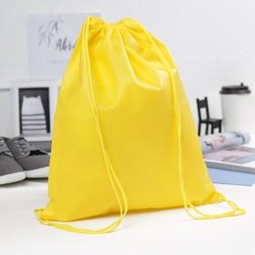 Мешок для обуви, 34*1*40, 1 отд на шнурке, желтый Ош