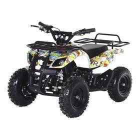 Квадроцикл детский бензиновый MOTAX Mini Grizlik Х-16 Большие колеса,Бомбер, с электростартером и пультом родительского контроля Ош