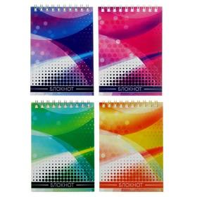 Блокнот А6, 40 листов на гребне Calligrata «Графика», мелованный картон Ош