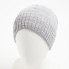 Шапка мужская 2903 цвет светло-серый, р-р 56-58