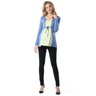 Блузка для беременных Анабель цвет индиго желтый, р-р 44