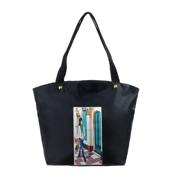 """Сумка женская """"Модница"""", 1 отдел, наружный карман, на подкладе, цвет чёрный"""