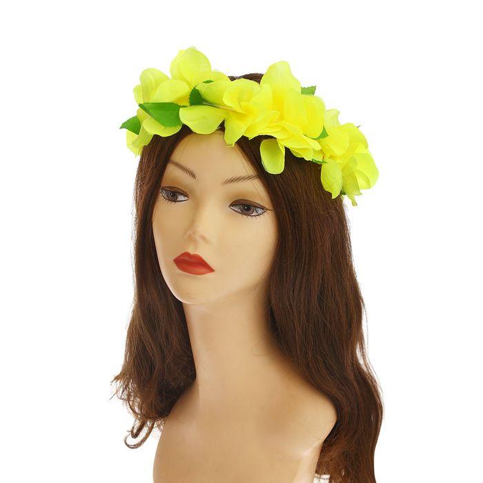"""Венок на голову """"Орхидея желтая"""""""