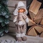 """Кукла интерьерная """"Ваня в шапочке с меховой оторочкой"""" 28 см"""