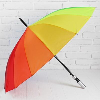 """Зонт-трость """"Радуга"""", полуавтоматический, R=46см"""