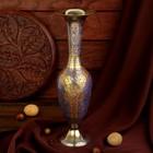 """Интерьерный сувенир ваза """"Виноград"""" латунь, 10х10х32,5 см"""
