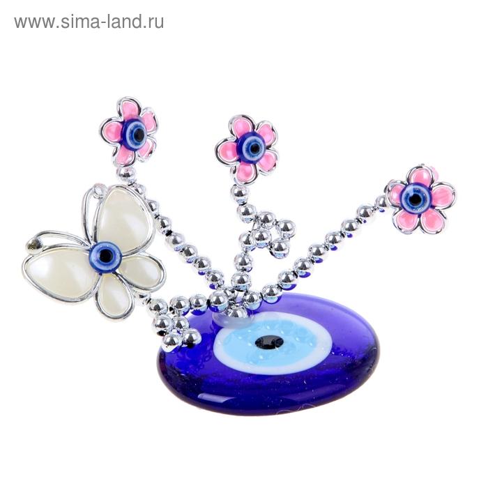 """Сувенир Дерево с глазками """"Бабочка в розовых цветах"""""""