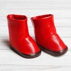 Сапоги с отворотами для куклы, длина подошвы 6,5 см, цвет красный