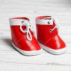 """Ботинки для куклы """"Завязки"""", длина подошвы 7,6 см, 1 пара, цвет красный"""