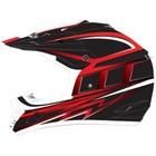 Шлем кросс TX-12 #17 GRID black/red, S