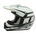 Шлем кросс TX-12 #17 GRID white/black, M