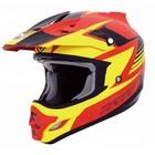 Шлем кросс TX-23 # 15 red/yellow/black, S