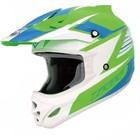 Шлем кросс TX-23 #15 green/blue, S