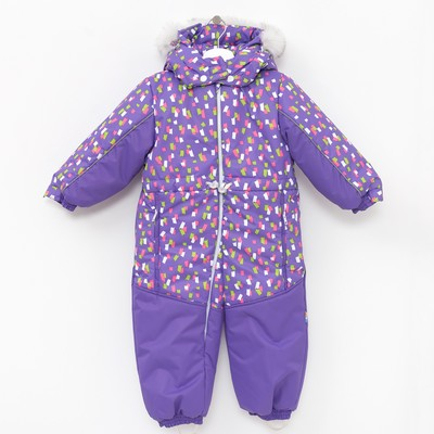 Комбинезон детский, рост 104 см, цвет фиолетовый