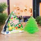 """Фигурное мыло-ёлочка """"С Новым годом!"""" с ароматом яблока, ручная работа"""