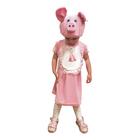 """Карнавальный костюм """"Свинка"""" для девочки, сарафан, шапка, рост 98-104 см"""