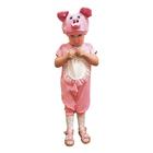 """Карнавальный костюм """"Поросёнок Хрюша"""" для мальчика, комбинезон, шапка, рост 92-98 см"""