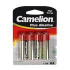 Батарейка алкалиновая Camelion LR6-4BL (LR6-BP4), 1.5В, блистер, 4 шт.