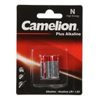 Батарейка алкалиновая Camelion LR1-2BL (LR1-BP2), 1.5В, блистер, 2 шт.