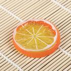 Муляж кусочек апельсин d-5 см