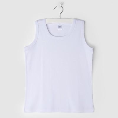 Майка для девочек, белый, 98-104 см (28)