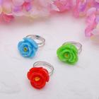 """Кольцо детское """"Выбражулька"""" роза, форма МИКС, цвет МИКС, безразмерное"""