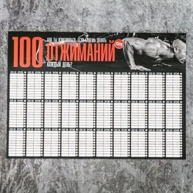 Планинг '100 отжиманий', 22 х 15,5 см Ош
