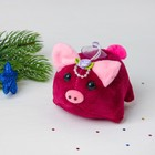 """Мягкая игрушка-присоска """"Свинка"""", на голове роза, цвета МИКС"""