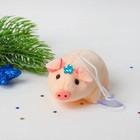 """Мягкая игрушка-присоска """"Свинка"""", цветочек на голове, цвета МИКС"""