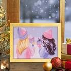 """Роспись по номерам без подрамника """"Подарки"""" с красками 14шт по3мл+ кисти 30*40 см"""