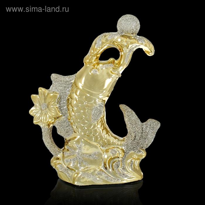 """Нэцкэ """"Рыбка золотая с жемчужиной"""""""