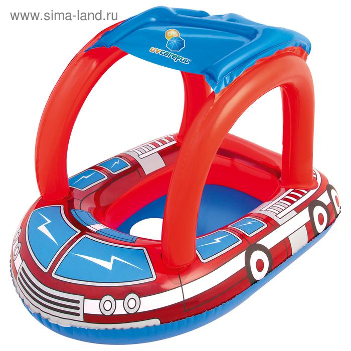 """Круг для плавания с сиденьем и тентом """"Пожарная машина"""""""