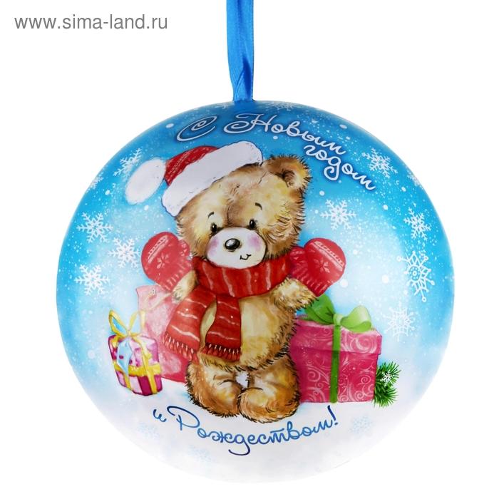 "Подарочная банка жестяная-шар ""Мишка"""