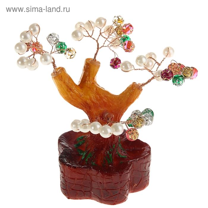 """Денежное дерево """"Жемчужины в розах"""""""