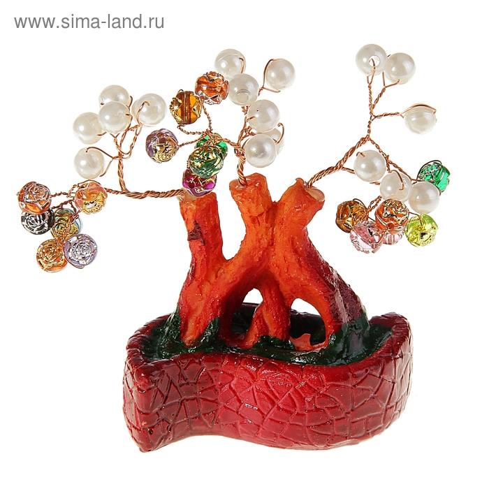 """Денежное дерево """"Жемчужины в розах. Волна"""""""