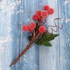 """Декор """"Зимние грезы"""" 15 см красные ягодки"""