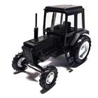 Трактор МТЗ-82 (пластмасса, весь черный)  1:43 16103б