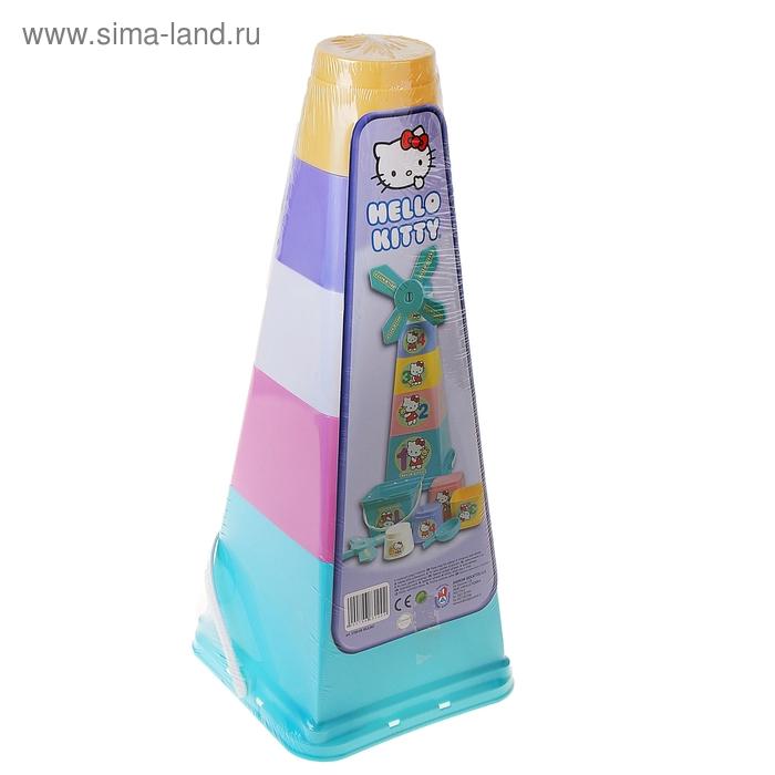 "Набор песочный ""Hello Kitty. Мельница"": 5 ведерок, ситечко"