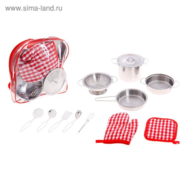 """Набор металлической посуды """"Поварёнок"""", 11 предметов"""