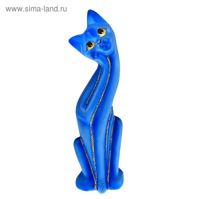 "Копилка ""Кошка Муся"" голубая"