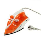 Утюг электрический LIRA LR 0608, 1800 Вт, покрытие подошвы non-stick, оранжевый-белый